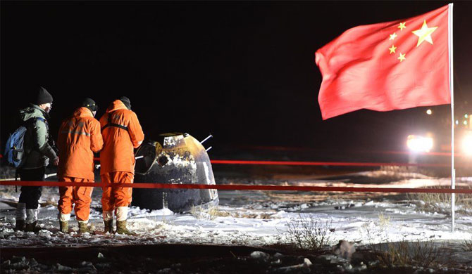 China's Chang'e-5 moon mission returns